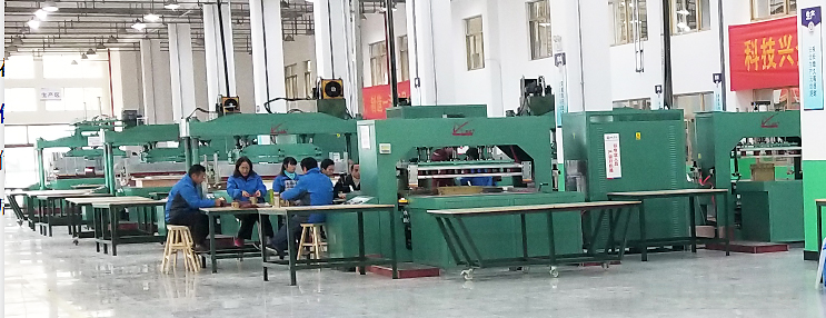 充气池高周波焊机生产现场