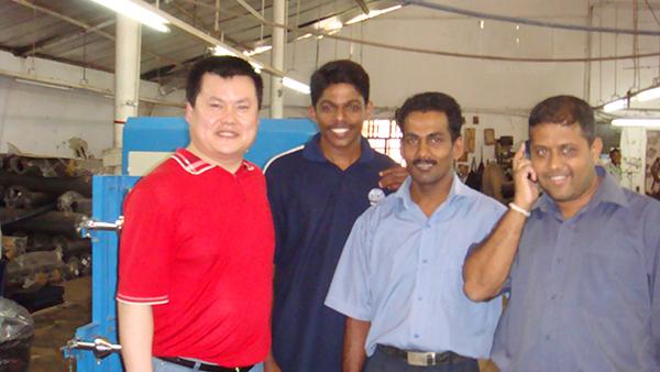 在斯里兰卡安装完工