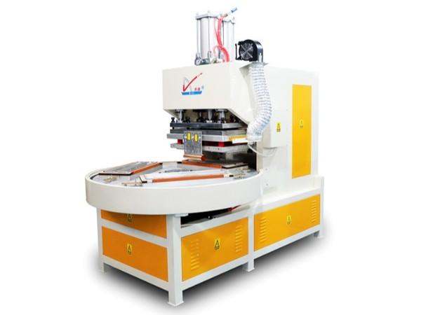 pet吸塑三工位自动转盘高周波熔断机